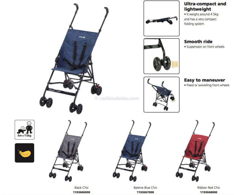 Poussette Peps Canopy Safety