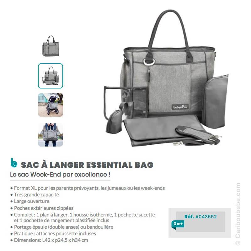 Sac à langer Essential Bag Smokey BabyMoov