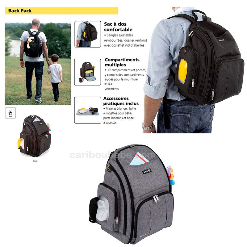 Sac à dos Pack Back à langer Safety