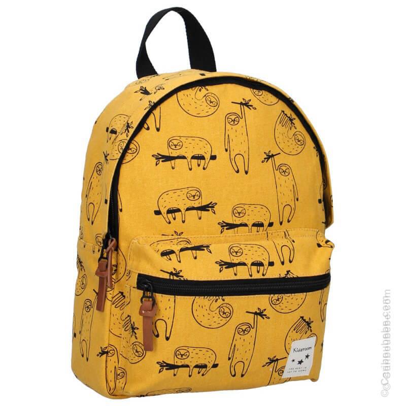 Sac à dos enfant Animal Academy Paresseux Jaune par Kidzroom BB&Co