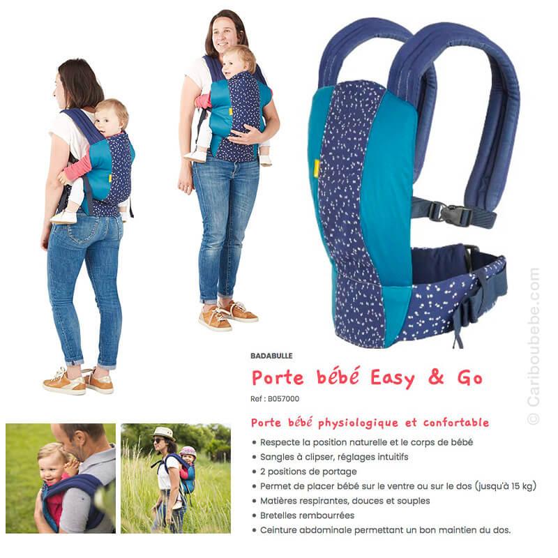 Porte-Bébé Easy & Go Ventral ou Dorsal Bleu Badabulle