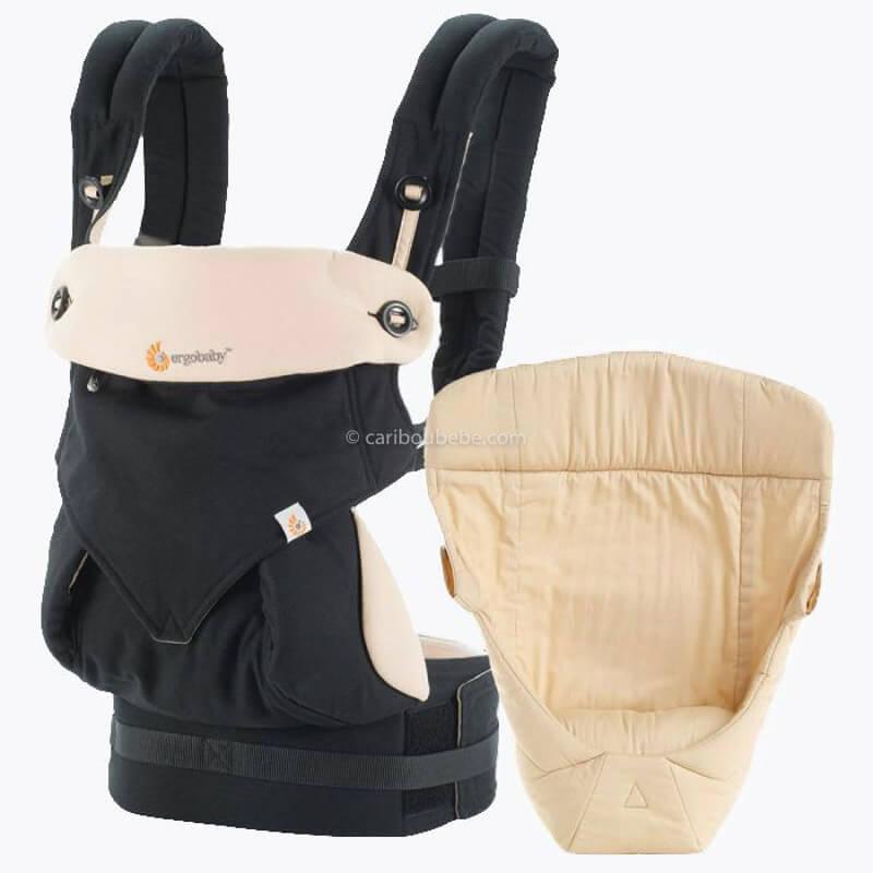 Porte-bébé Ventral Pack Évolutif 360 4 Positions Noir&Beige Ergobaby