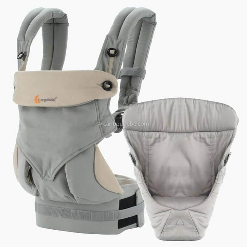 Porte-bébé Ventral Pack Évolutif 360 4 Positions Gris Ergobaby