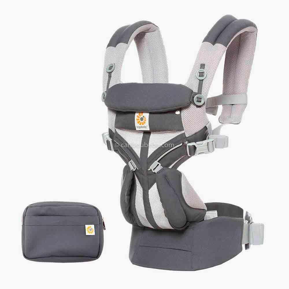 Porte-bébé Omni 360 Cool Air Mesh 4 positions Carbon Grey3 Ergobaby