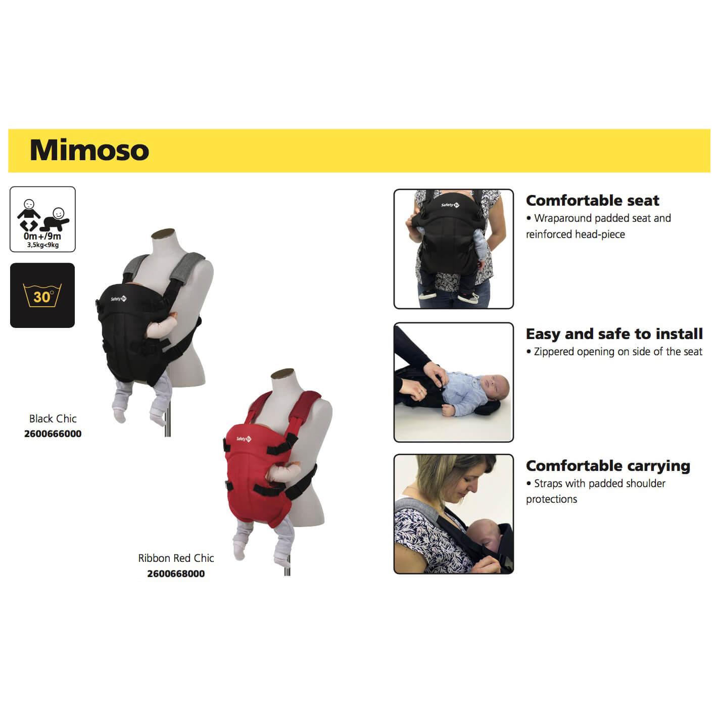 Porte Bébé Ventral Mimoso Safety