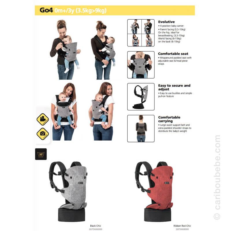 Porte-bébé Go4 Évolutif Safety