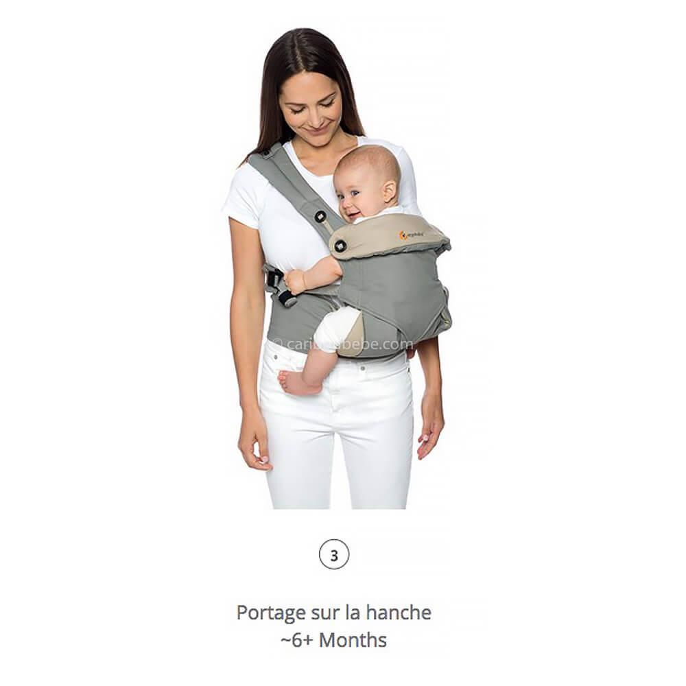 Porte-bébé Latéral Pack Évolutif 360 4 Positions Gris2 Ergobaby