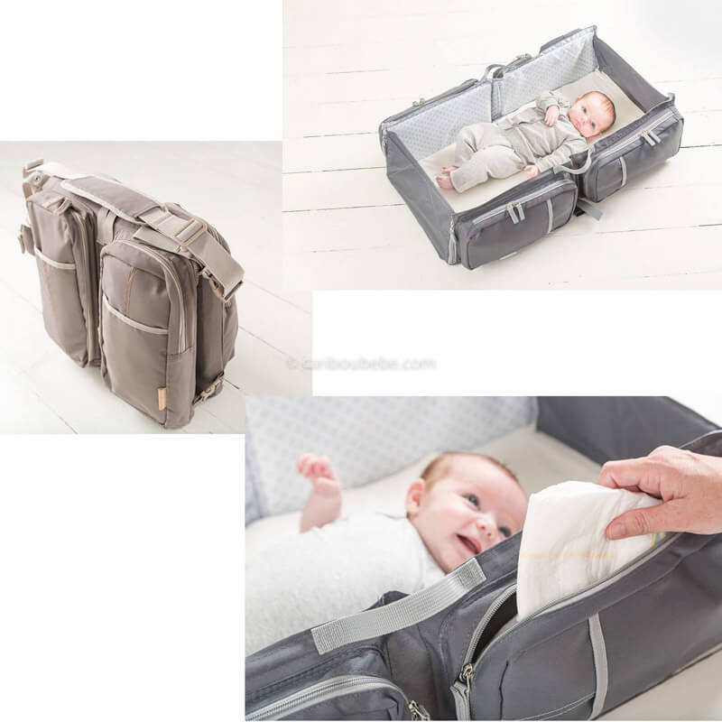 Sac Nursery et Couffin Baby Travel New Taupe Doomoo
