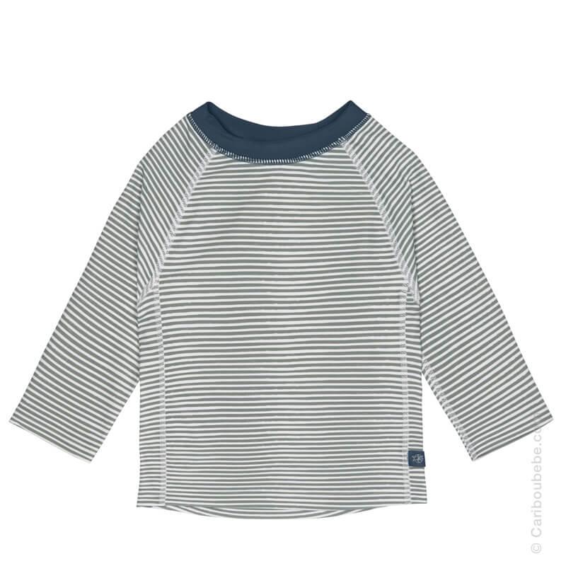 T-Shirt à manche longues Garçon Rayures Bleu 6-12-24M Lassig