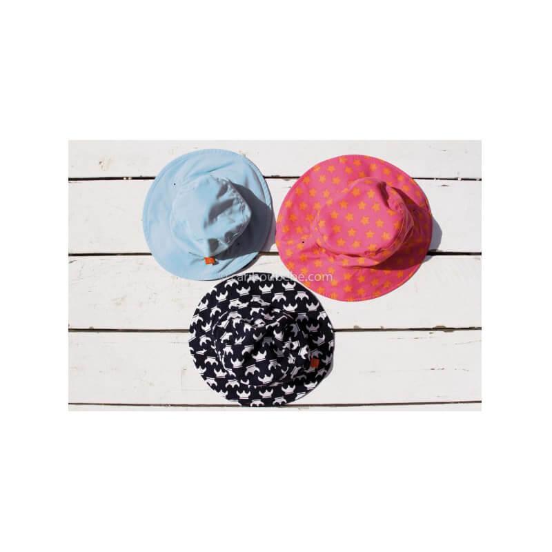 Chapeau de Soleil Réversible Étoiles Pêche Lassig2