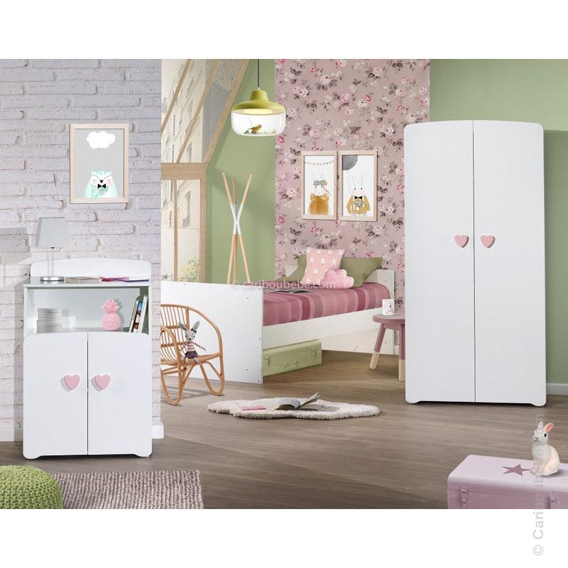 Chambre Bouton Cœur Rose New Basic Sauthon Baby Price