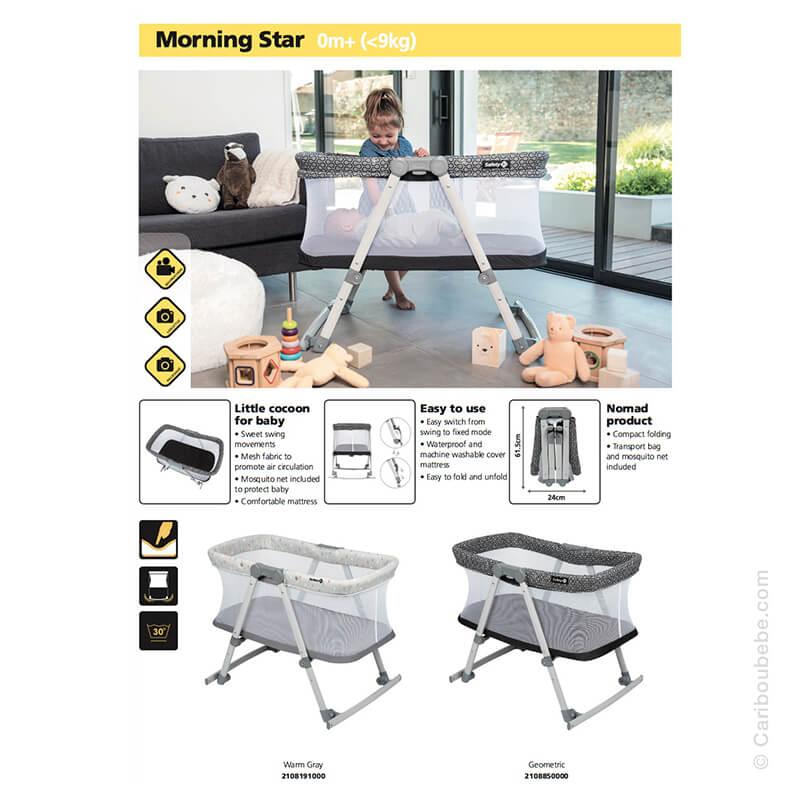 Berceau Balancelle Morning Star Safety