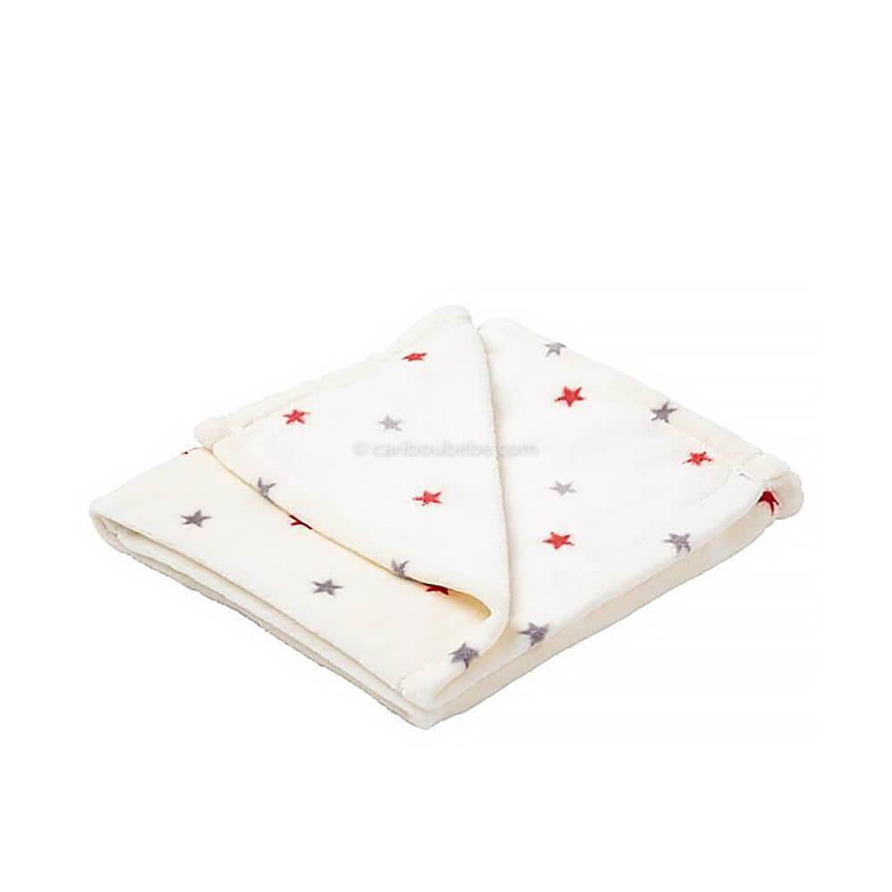 Couvertures Flanelle 75x100cm Étoile Multicolores Baby Calin