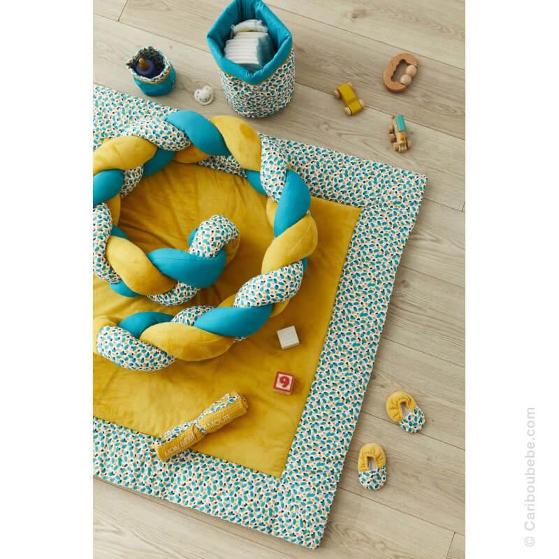 Tresse Décorative Multi-Usages Imprimé Multicolore Émeraude Ocre Baby Pop BB&Co