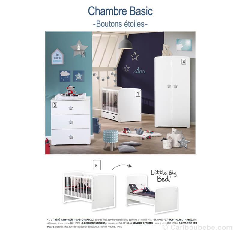 Lit évolutif Little Big Bed 70x140cm Basic Sauthon Baby Price
