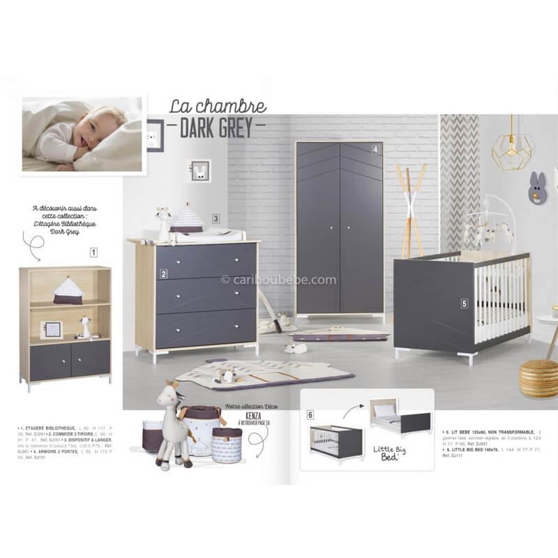 Chambre Dark Grey Sauthon Meubles