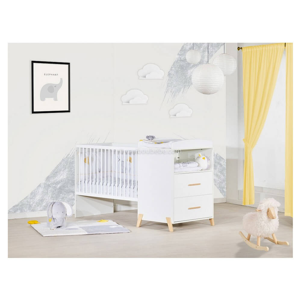 Chambre Lit combiné évolutif Joy Naturel Sauthon Baby Price