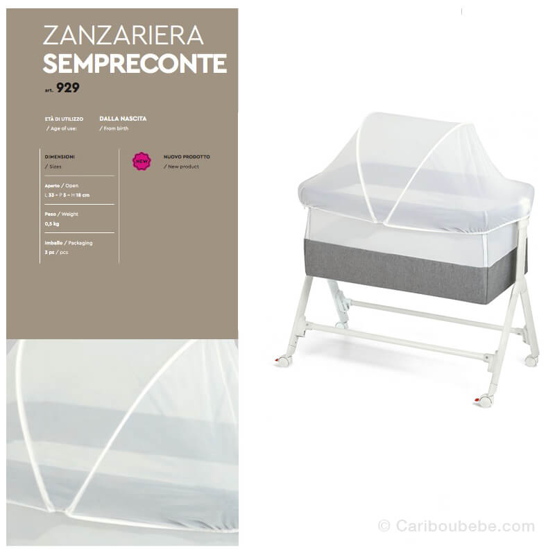 Moustiquaire Zanzariera pour Cododo Culla-Sempreconte Cam