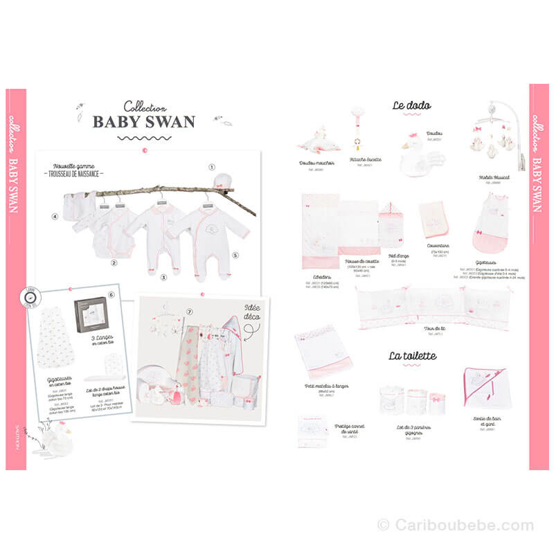 Collection Baby Swan Sauthon Baby Déco