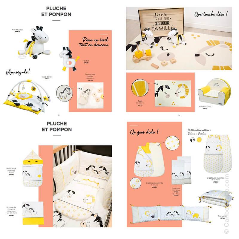 Collection Pluche et Pompon Sauthon Baby Déco