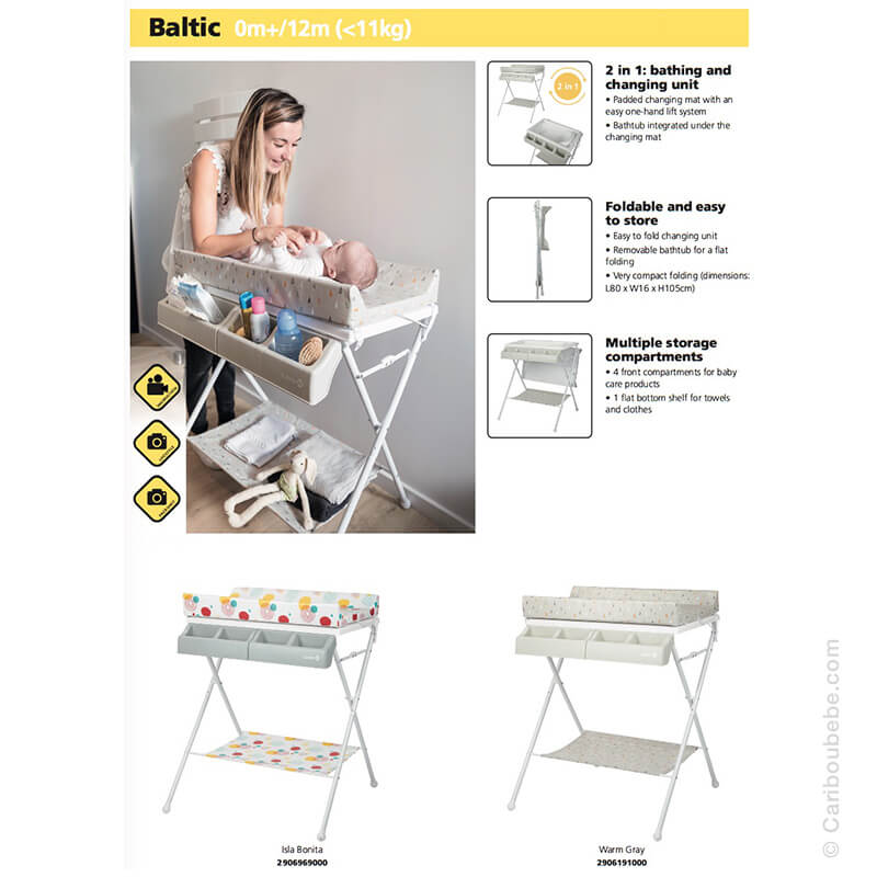 Baignoire & Table à Langer 2en1 Baltic Safety