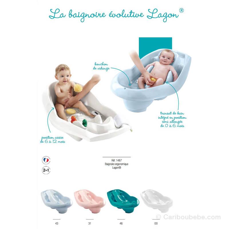Baignoire Ergonomique Lagon 2 en 1 Thermobaby
