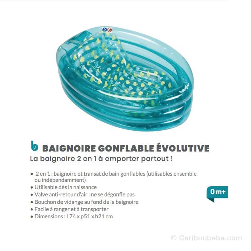 Baignoire Gonflable Évolutive 0M Babymoov