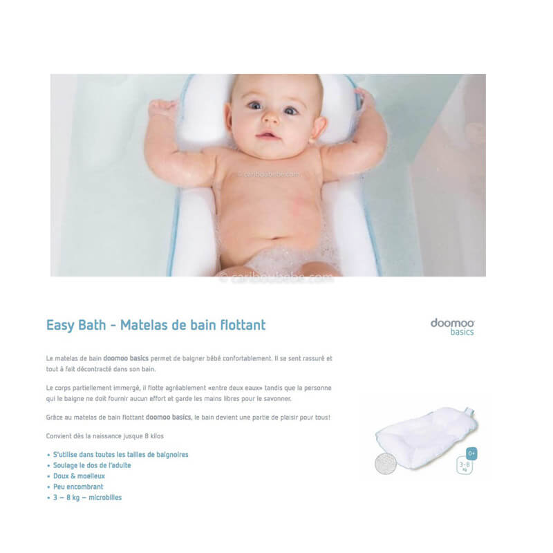 Matelas de Bain Flottant New Easy Bath Doomoo
