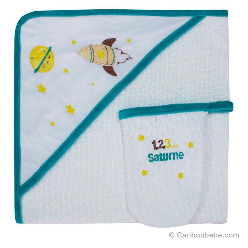 Sortie de bain + Gant Saturne Les Chatounets Autres