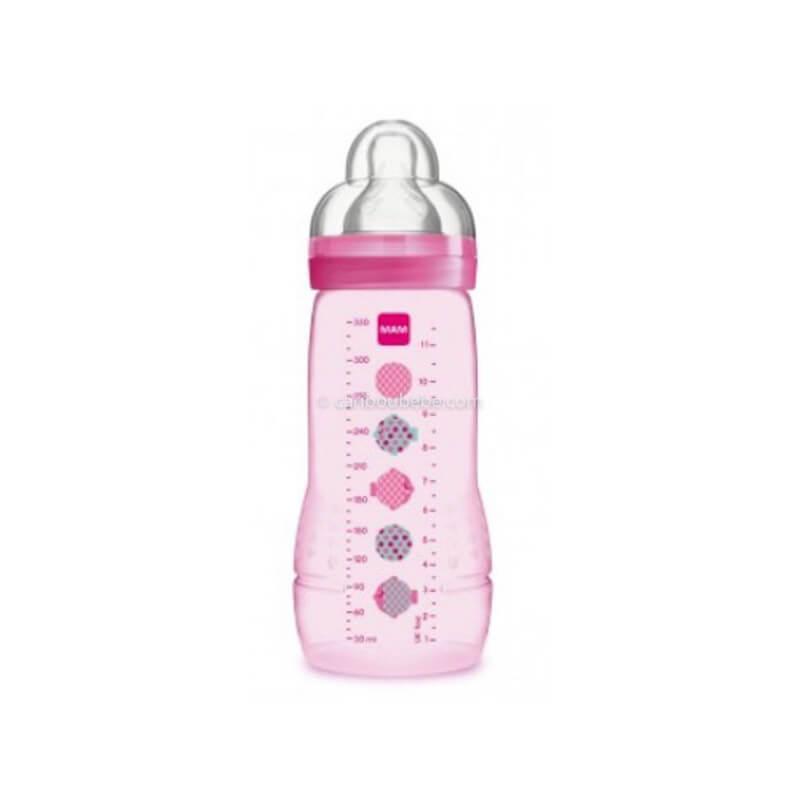 Biberon Easy Active 2ème Age Décoré 330ml Rose Fille Mam Baby