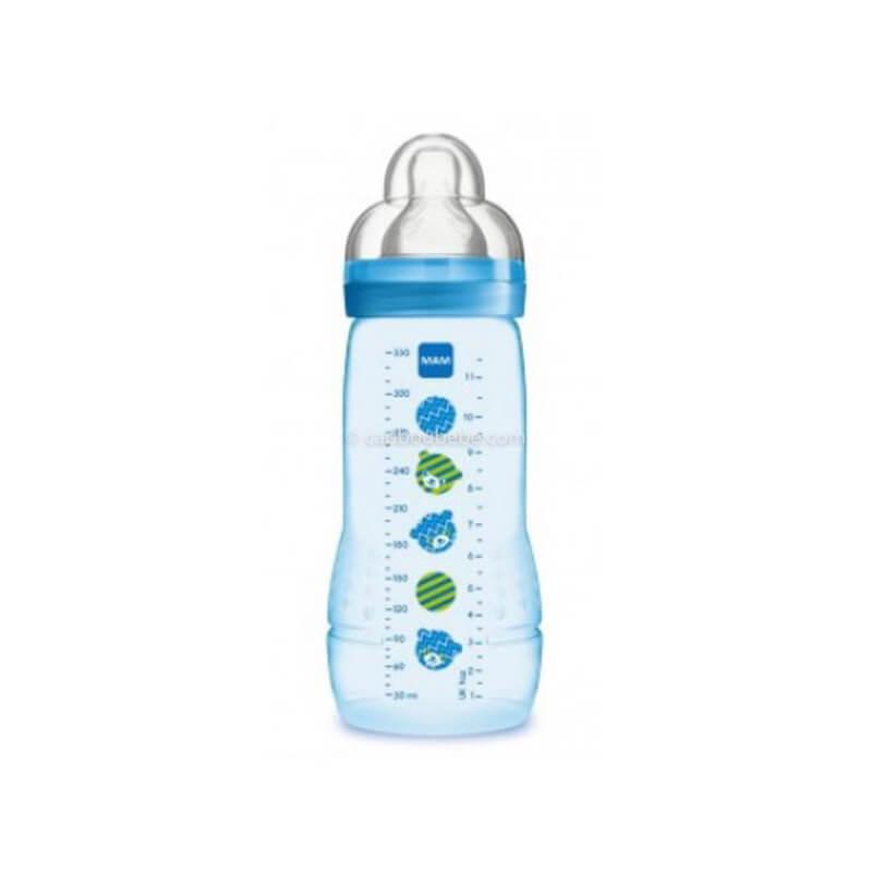 Biberon Easy Active 2ème Age Décoré 330ml Bleu Garçon Mam Baby