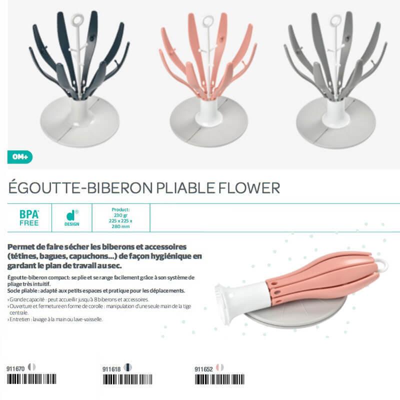 Égouttes Biberon Pliable Flower 0M Béaba