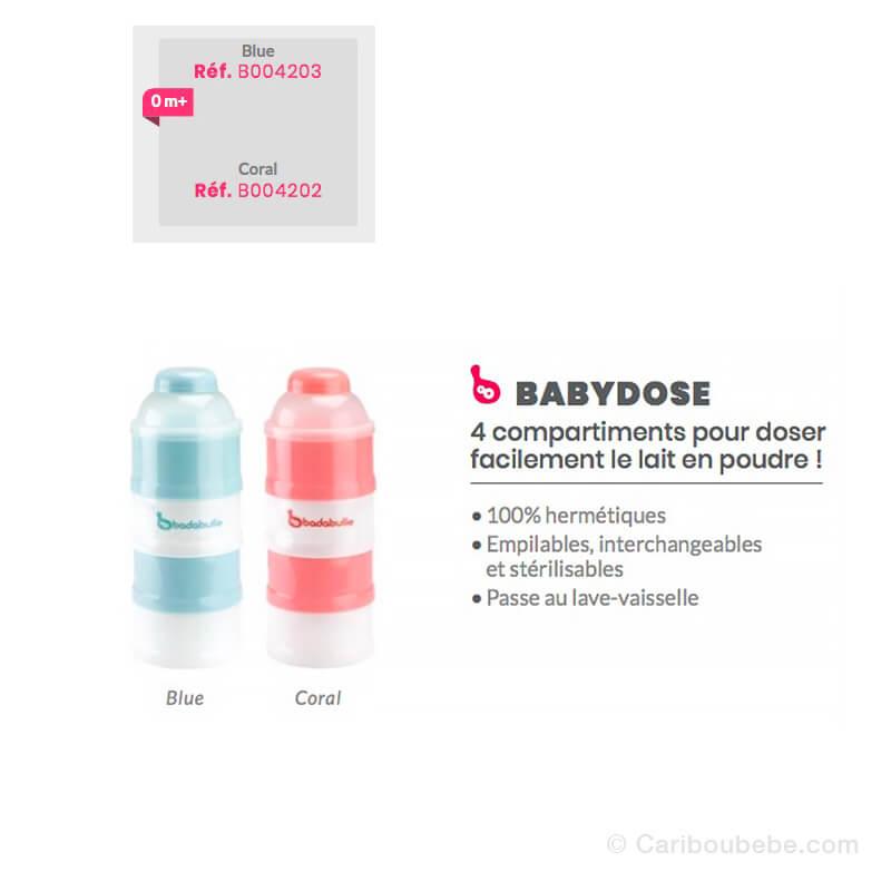 Boites Doseuse Poudre de Lait Babydose Badabulle