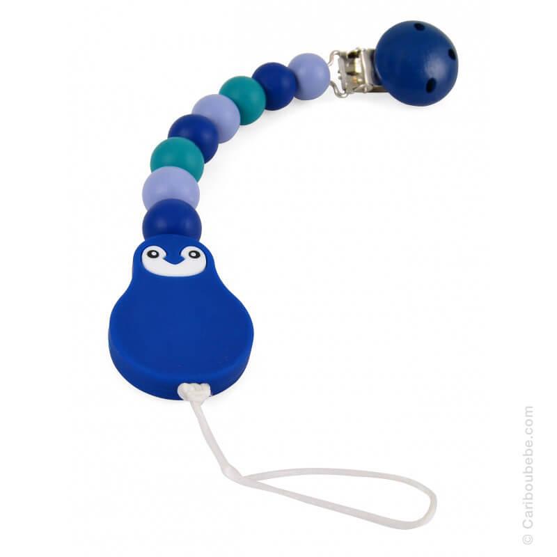 Attache-Sucette Silicone Ciel Bleu Foncé Émeraude 1,2x26,5x3,3cm Magni Toys BB&Co