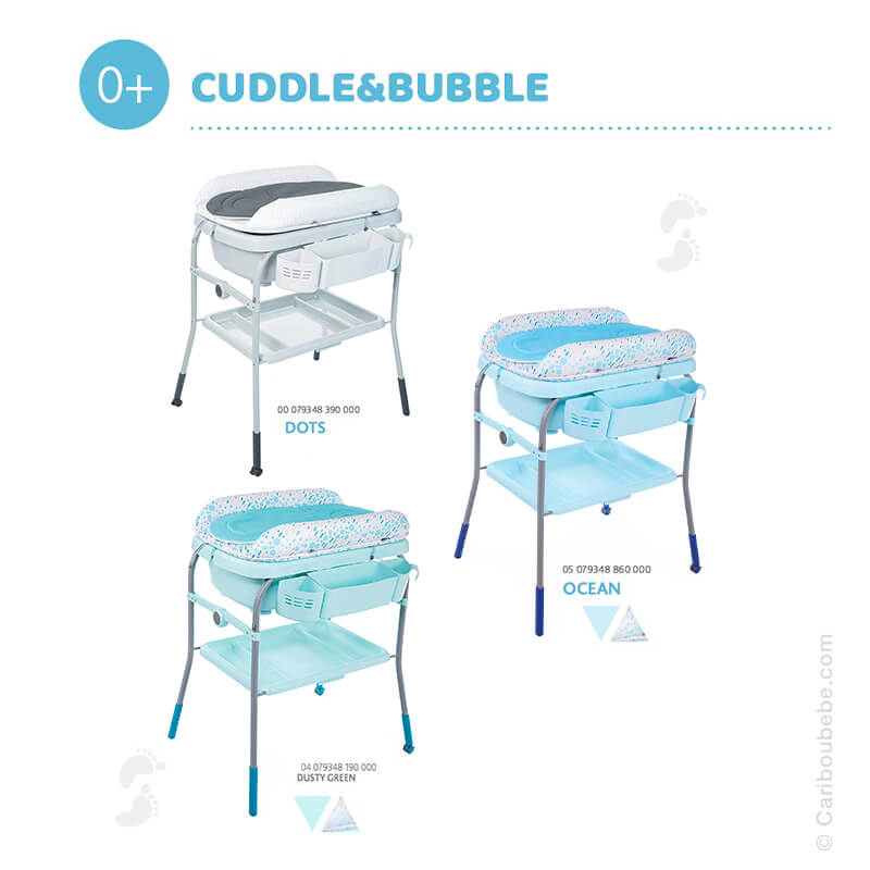 Combiné Table à Langer & Baignoire Cuddle Et Bubble Chicco