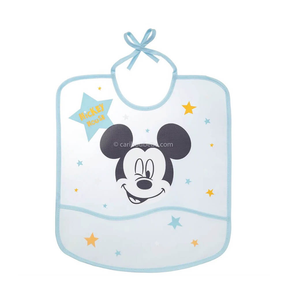 Bavoir imperméable Disney Mickey My Story avec poche 28x32cm 6M Baby Calin