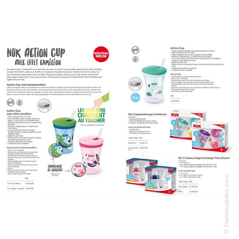 Tasses d'Apprentissage Action Cup & Set +12M Nuk