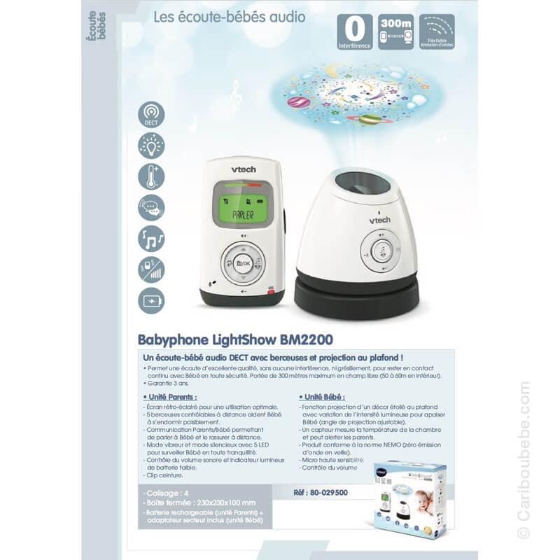 Écoute Bébé Babyphone Vidéo Classic BM2650 VTech