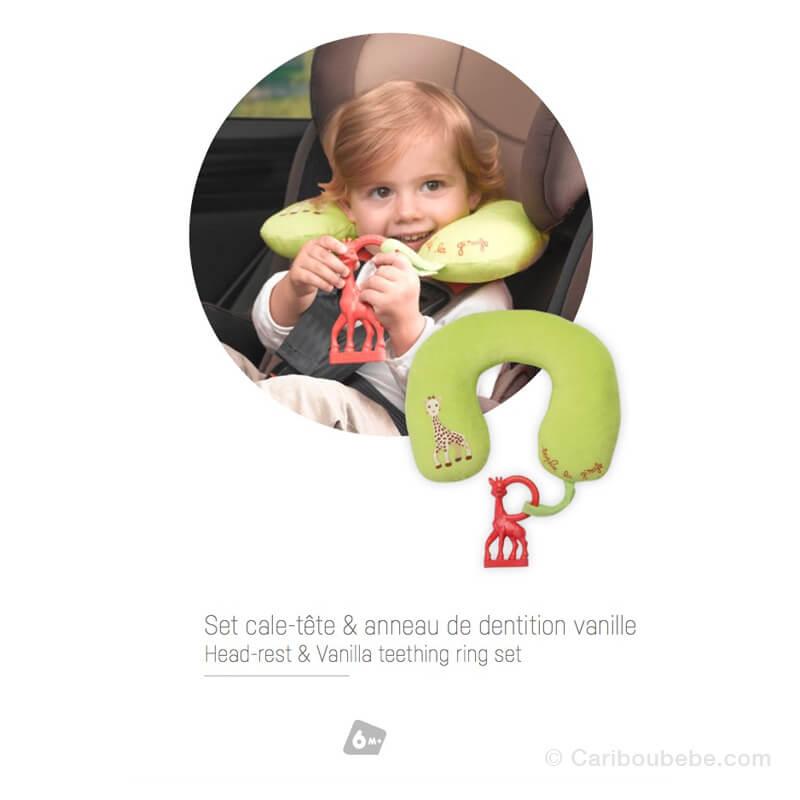 Cale-tête Anneau de Dentition Vanille +6M Sophie La Girafe