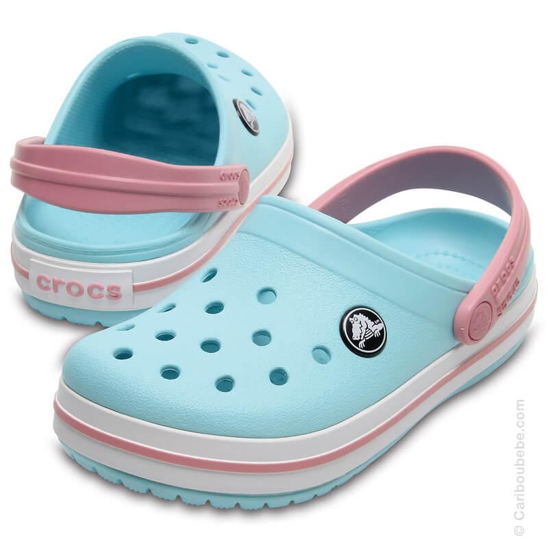 Crocs Kids Crocband Clog Ice Blue / White Crocs