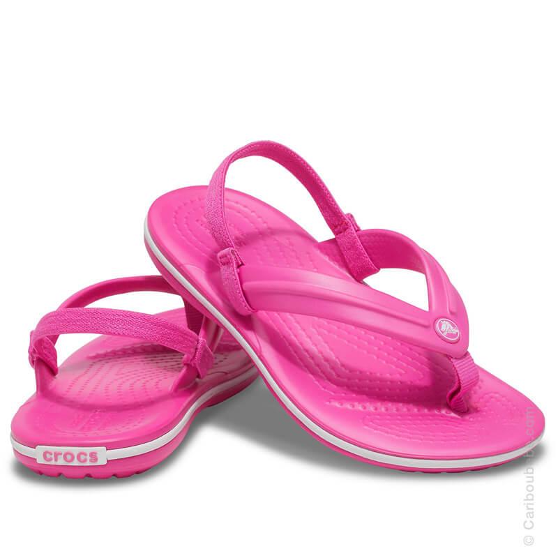Crocs Kids Crocband Strap Flip Electic Pink Crocs