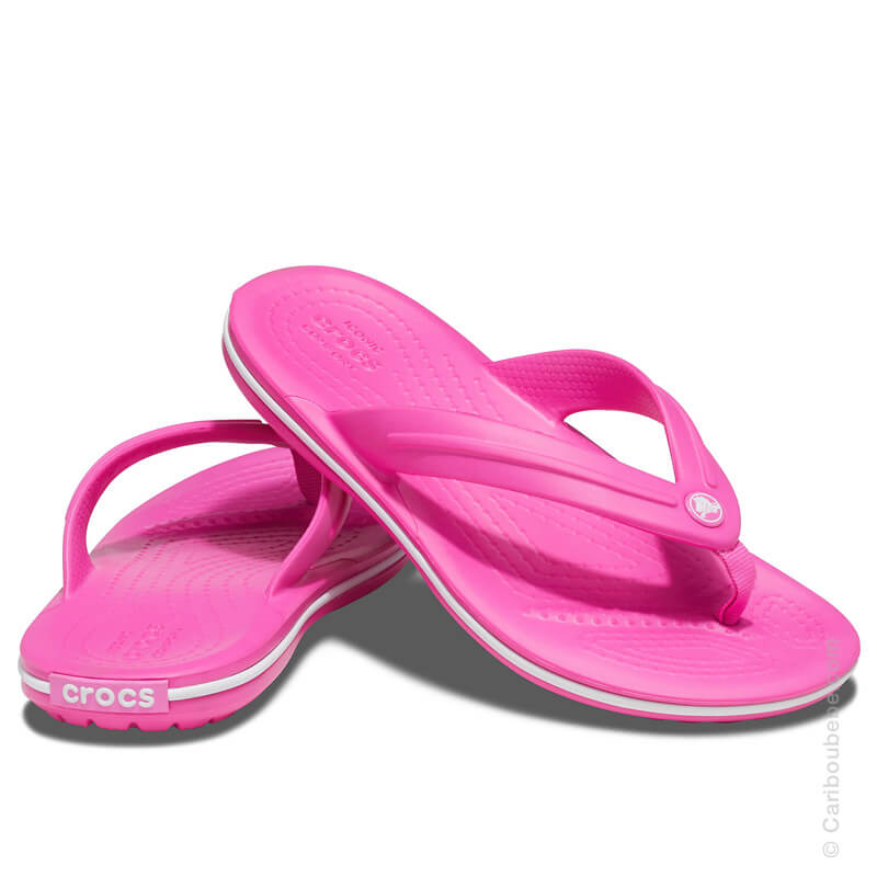 Crocs Kids Crocband Flip Electic Pink Crocs