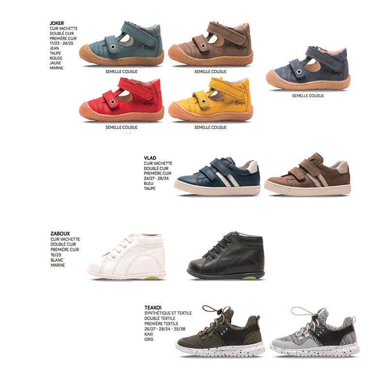 Chaussures & Basket Bébé et Enfant 16 au 38 Bopy