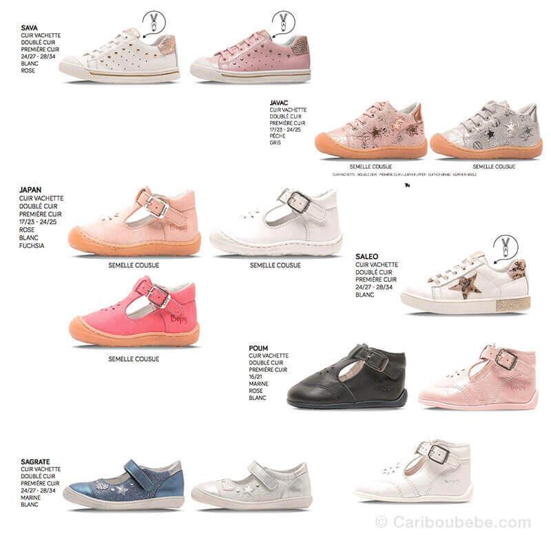 Chaussures & Sandales Bébé et Enfant Fille 16 au 38 Bopy