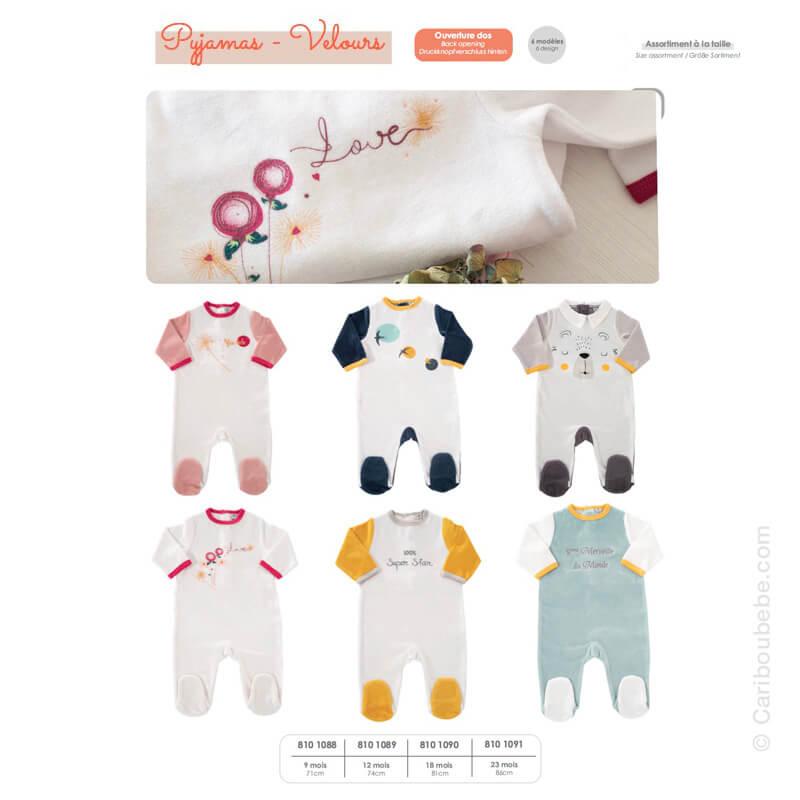 Pyjama Velours 9-12-18-23M Novatex