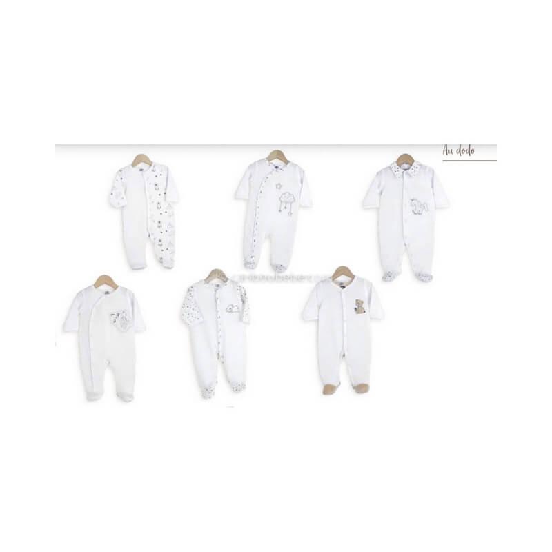 Pyjama x6 0-1M Au Dodo Manche Longue Novatex Body