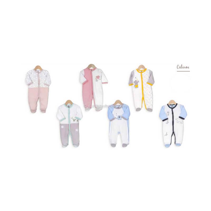 Pyjama x6 0-1-3M Calinou Manche Longue Novatex Body