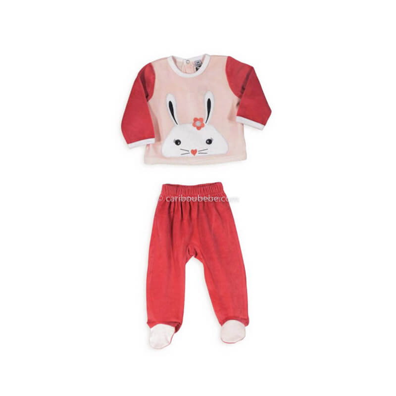 Pyjama 2 Pièces Velours Lapin 6-23M Novatex Body
