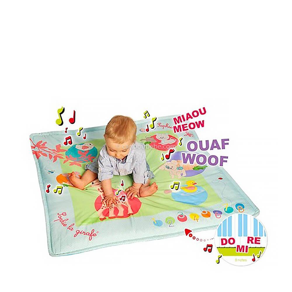 Tapis d'Éveil Touch & Play Mat' 100x100cm +0M Sophie La Girafe