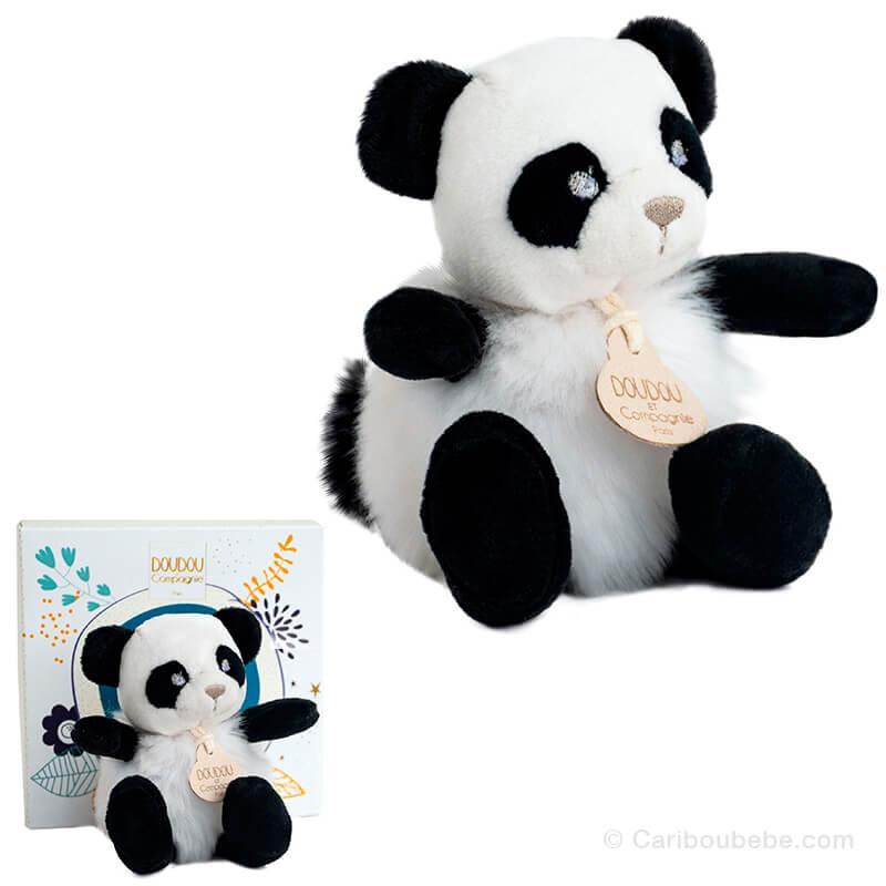 Peluche Panda 15cm Minizoo Doudou&Cie